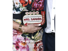 A detail photo of Liset Meruelo's purse