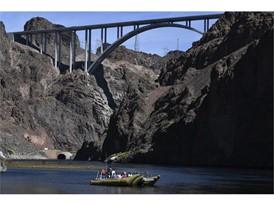 Rafting below the Hoover Dam