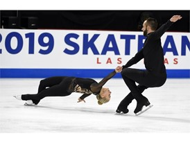 Ashley Cain-Gribble and Timothy Leduc of the United States perform