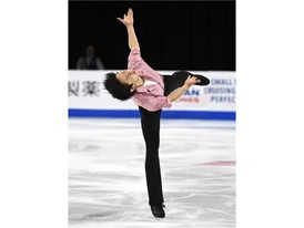 Koshiro Shimada of Japan performs