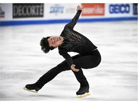 Boyang Jin of China performs