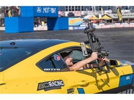 A cameraman grabs footage