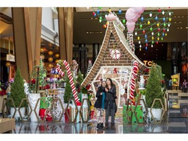 Life-size gingerbread house at ARIA Resort & Casino