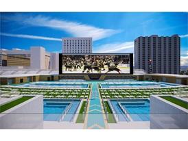 Circa Hotel Pool Rendering