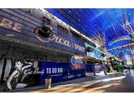 The Fremont Street Experience facade of Circa Resort