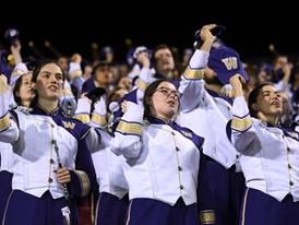The Washington Huskies band chants