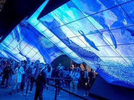 A giant wave-form screen