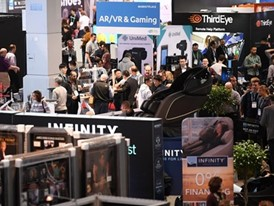 Crowds fill the south hall during the Consumer Electronics Show