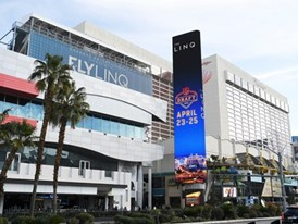 The marquee at The LINQ