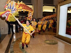 Chinese New Year Lion Dance preformed at the Venetian