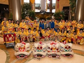 Chinese New Year Lion Dance performers