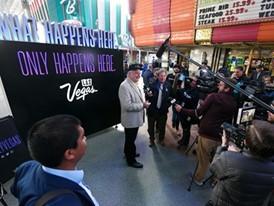 Nevada Gov. Steve Sisolak gives interviews