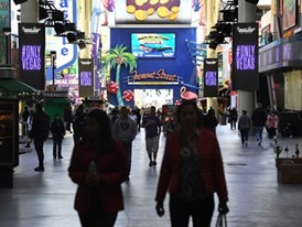Signs along the Fremont Street Experience