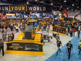 Crowds fill the North Halls for the ConExpo-Con/Agg show at the Las Vegas Convention Center i
