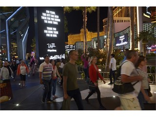 Las Vegas Community Unites with #VegasStrong Marquee Tribute