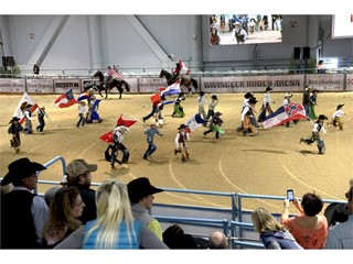 NFR Junior Rodeo contestants head for the bucking chutes