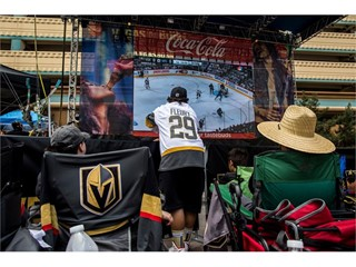 Vegas Golden Knights fans gather to watch Game 5