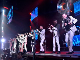 Banda MS performs at the MGM Grand Garden Arena