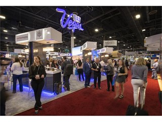 LVCVA trade show booth at the IMEX America