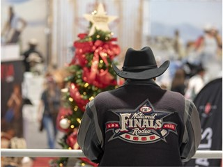 A visitor in official NFR gear