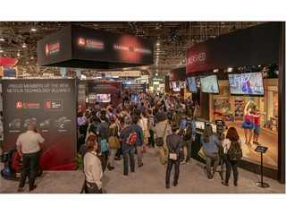 Visitors crowd the walkways at the NAB Show