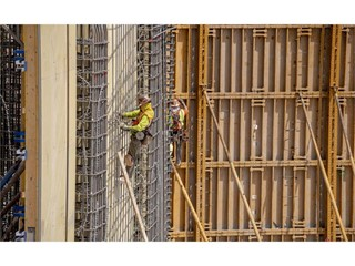 Workers on site
