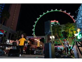 Olmeca preformed a free concert at The LINQ Promenade