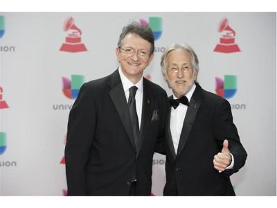 Latin Recording Academy President/CEO Gabriel Abaroa, left, and Recording Academy President Neil Portnow