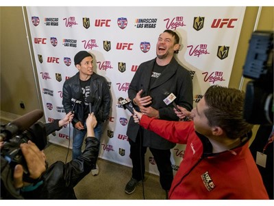 UFC fighters Joseph Benevidez and Forrest Griffin