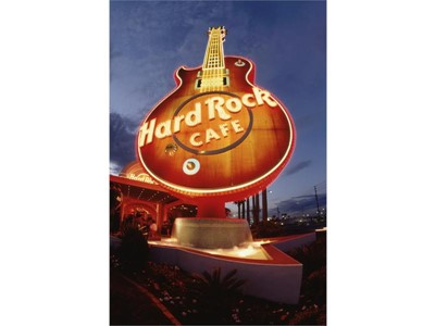 The Hard Rock Cafe sign