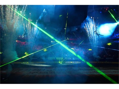 Day 1: Pyro, lasers, and aerialists