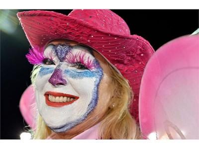 Fan Zone: Cher Barrett as pink clown