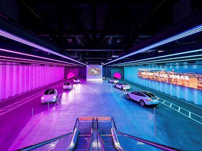 First Look Inside Elon Musk's Underground Transportation System Beneath the Las Vegas Convention Cen