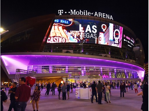 T-Mobile Arena opening day exterior