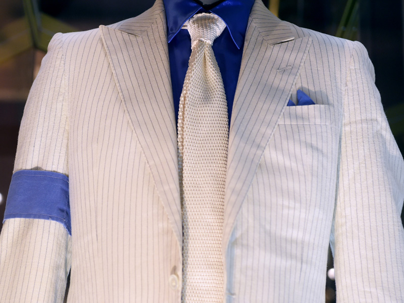 Jacket, tie and armband