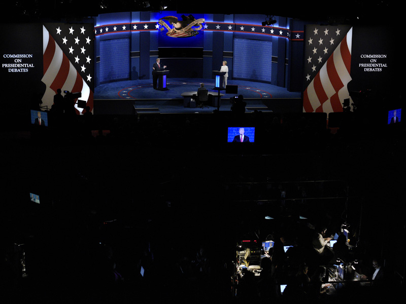 Inside the debate hall