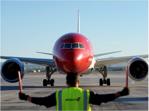 Norwegian arrives at the gate