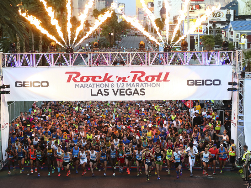The start line during the Rock 'n' Roll Marathon