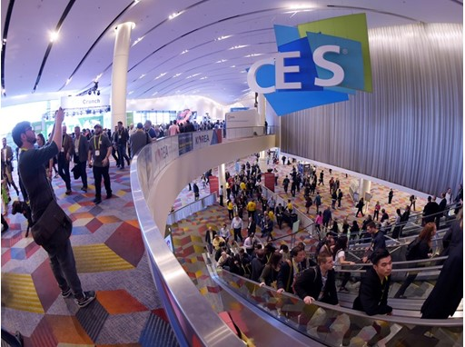 CES attendees at the Sands Convention Center