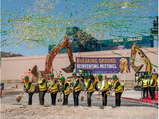 MGM Grand and community executives break ground on a new addition to the MGM Grand Conference Center