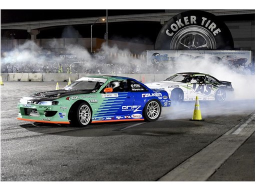 Drifting exhibition during the SEMA Ignited after party