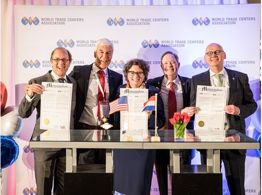 World Trade Center Las Vegas signed three MOUs at the 49th World Trade Center Association General Assembly in the Nether