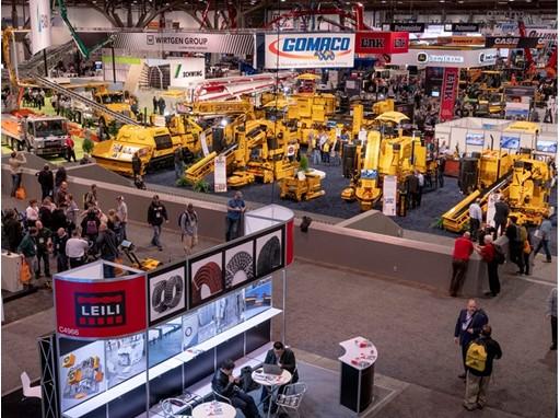 World of Concrete trade show floor
