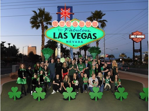 Local officials, business people, Irish dancers