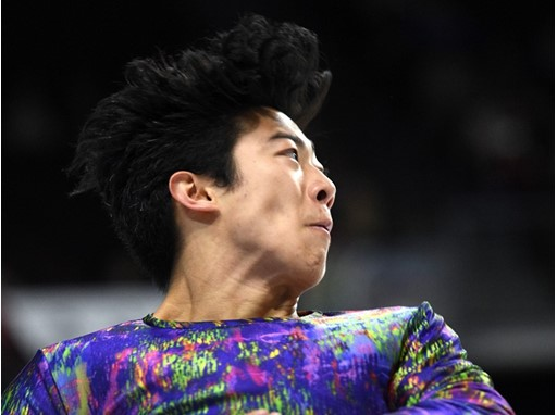 Nathan Chen of the United States performs