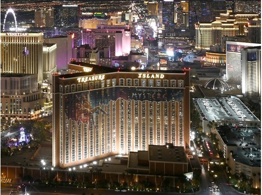 The Las Vegas Strip is seen from the vantage point of the Trump International Hotel