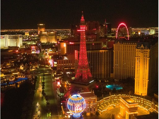 Las Vegas Strip Red Takeover May 5, 2020 Recognizing Hospitality Workers and the Spirit of Travel