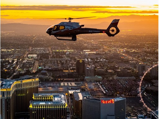 Maverick Helicopter over the Las Vegas Strip