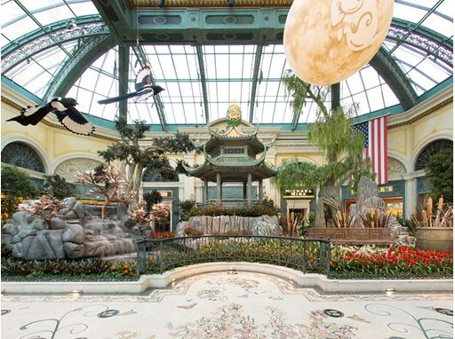 Bellagio Conservatory Lunar New Year West Bed_Photo credit Kelly McKeon for Bellagio