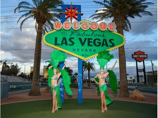 Welcome to Fabulous Las Vegas sign goes green for St. Patrick's Day 2021